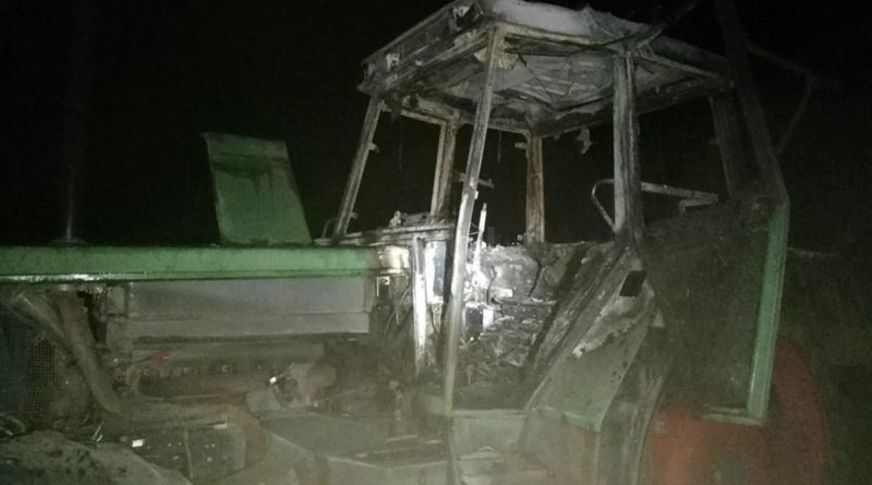 Tractor Incendiat
